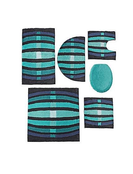 Mozaiek Wand Badkamer ~ Een set matten voor de badkamer bestaande uit zes delen De set heeft