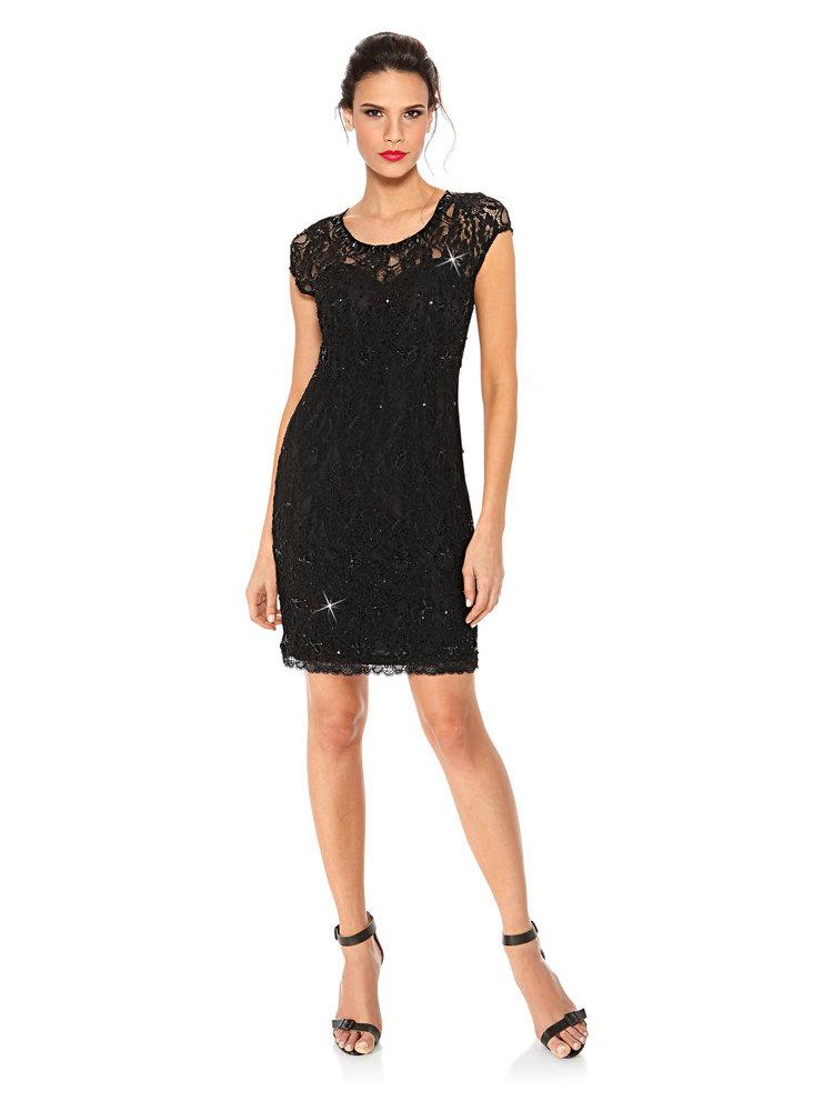 koop ashley brooke event kanten jurk zwart in de heine online shop. Black Bedroom Furniture Sets. Home Design Ideas