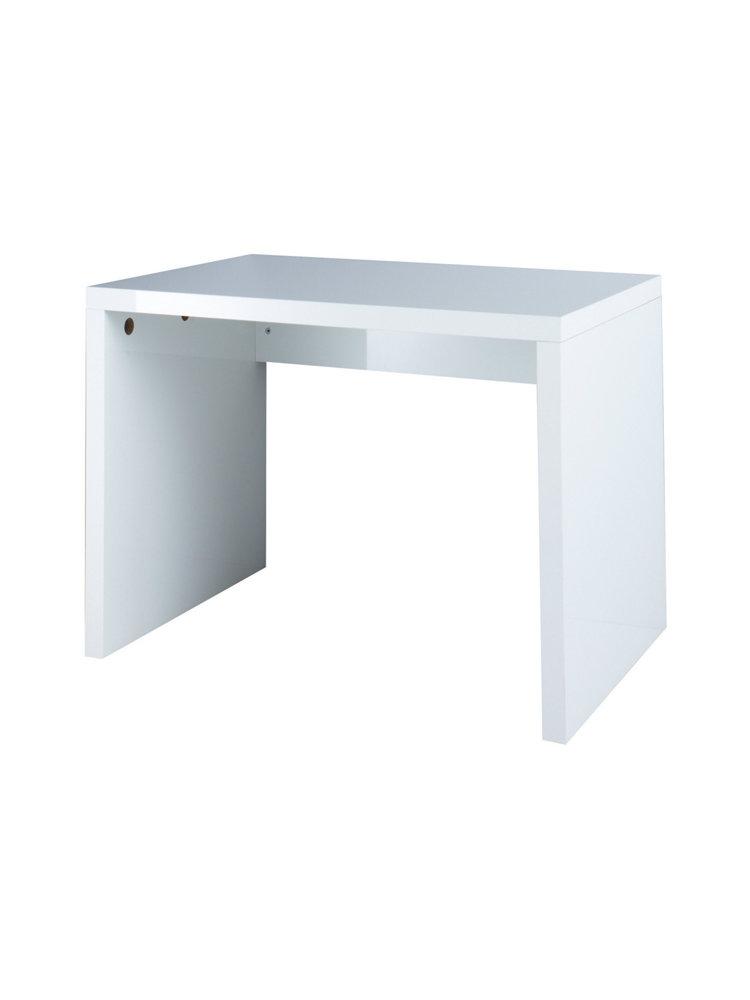 koop hmw bureau breedte 100 cm wit hoogglans in de