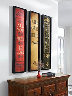 Wanddecoratie »Boek«