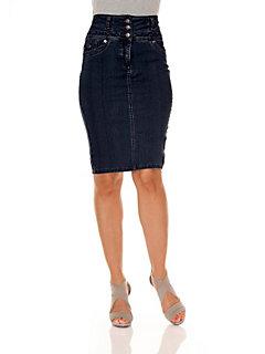 Modellerende jeansrok